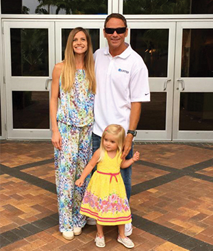 For Jim Tolliver it is family firsthere he poses alongside his fianc Karen and adorable daughter Melia