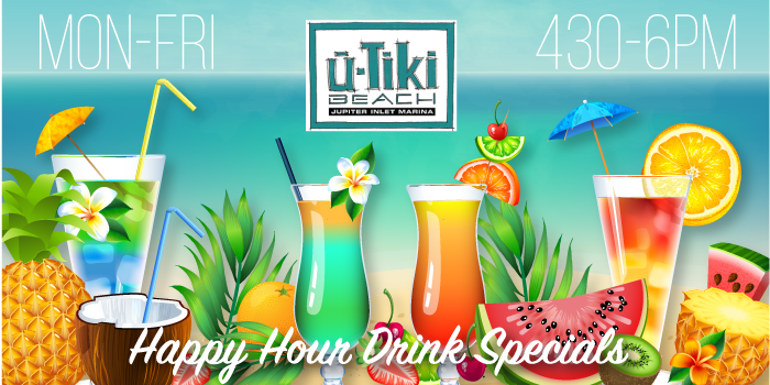 U tiki beach jupiter fl 39 s best waterfront restaurant bar for Fresh fish company happy hour