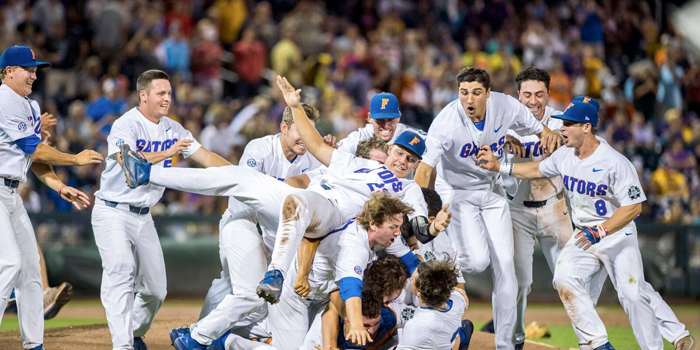 Florida Gators Baseball Team clinch the national title