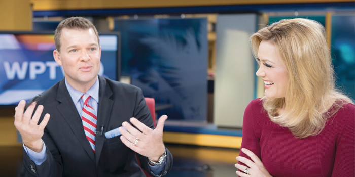 n between segments Jay and Shannon engage in lighthearted conversation and a quick apple wedge snack