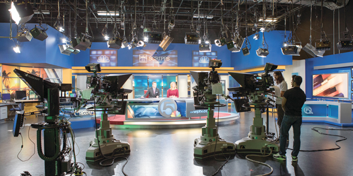 The news studio at WPTV NewsChannel 5