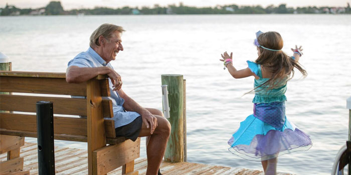 Joe Namath spends time with his granddaughter Jemma near Jupiter Florida