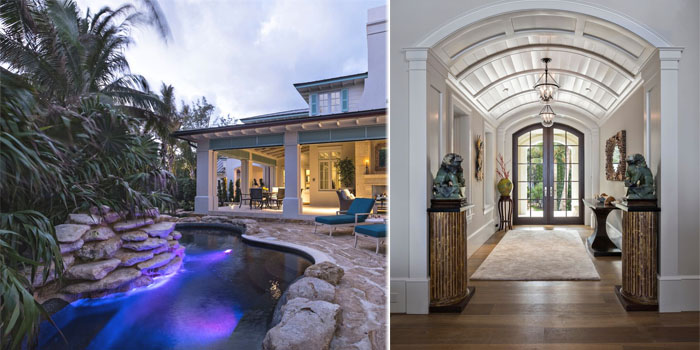 The British West Indies influence is carried throughout the design and style of the entire home