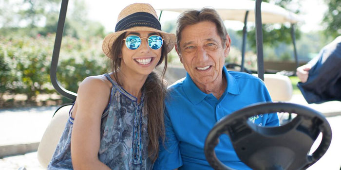 Joe Namath spends some time golfing with his daughter Jessica