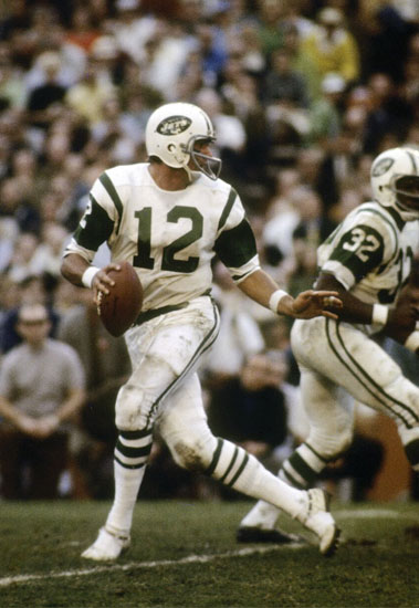 For 12 seasons Broadway Joe Namath brought his cannon arm quick release and over 65-yard long catchable throws to the New York Jets organization