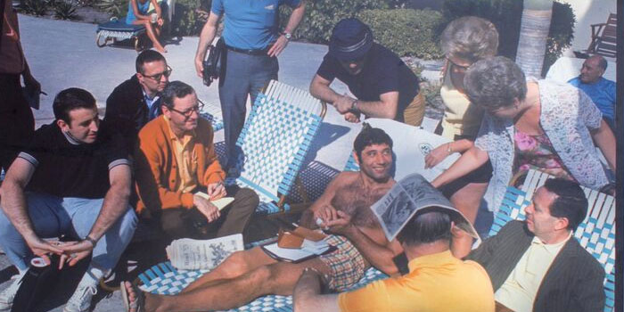 Joe Namath in Miami where he guaranteed a NFL Super Bowl win over the Baltimore Colts
