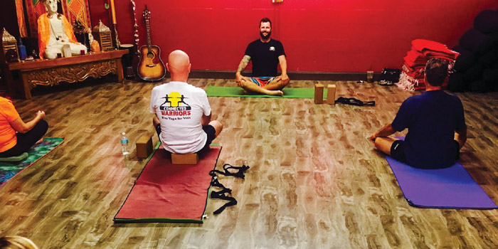Rob teaches a free class at Kula Yoga Shala on Toney Penna Drive in Jupiter every Thursday  at 12pm