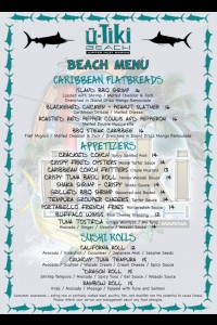 uTiki Beach Menu