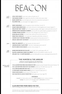 BEACON Dinner Menu - Charlie & Joe's at Love Street