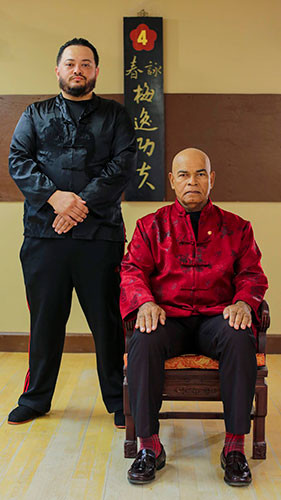 Sifu James Hindman of Jupiter Wing Chun and Grandmaster Julian Cordero of Palm Beach Wing Chun