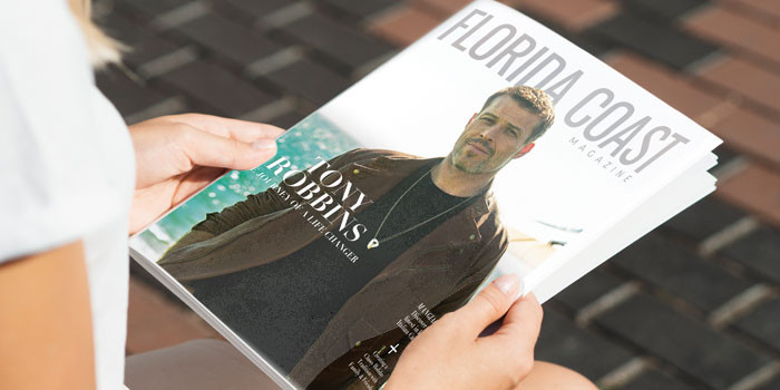 Tony Robbins Inspires in the New Issue of Florida Coast Magazine