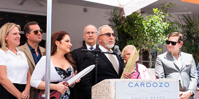 The Estefans Reopen the Iconic Cardozo Hotel In Miami