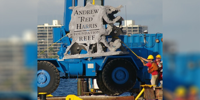 "The Andrew ""Red"" Harris Foundation Announces 2021 Artificial Reef Project in Jupiter"