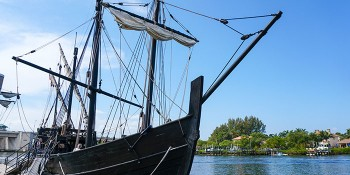 Columbus' Ships Dock In Jupiter