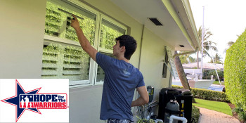 South Florida Teens Using Down Time During During Pandemic Washing Windows For Warriors
