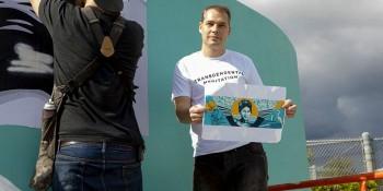 Shepard Fairey Unveils Mural at Jupiter Community High School
