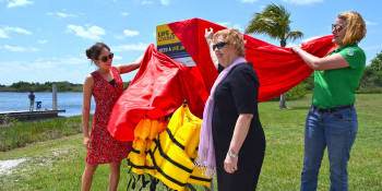 Officials Unveil County's First Free Life Jacket Loaner Station