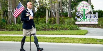 U.S. Congressman Mast Speaker and Walk Master at Harbourside Place in Jupiter, FL